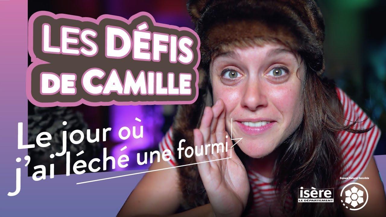 Les défis de Camille : Lécher une fourmi